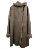 ROSSO(ロッソ)の古着「フェイクムートンコート」|ブラウン