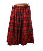 tricot COMME des GARCONS(トリコ コム デ ギャルソン)の古着「フレアスカート」 レッド