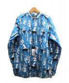 DOLCE & GABBANA(ドルチェ&ガッバーナ)の古着「ジャズプリントシャツ」|ブルー