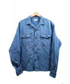 MAINTENANT(メンテナント)の古着「シャンブレーシャツジャケット」|インディゴ