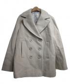 KUMIKYOKU(クミキョク)の古着「メルトンリバー Pコート」|アイボリー