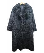 MOON BAT(ムーンバット)の古着「ファーコート」|ブラック
