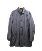 MOORER(ムーレー)の古着「コットンナイロンステンカラーコート」|ネイビー
