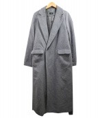 NINE(ナイン)の古着「アンゴラ混ロングチェスターコート」|グレー
