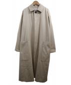 GALERIE VIE(ギャルリーヴィ)の古着「コットンウールギャバジン ステンカラーコート」 ベージュ