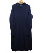 POLO RALPH LAUREN(ポロラルフローレン)の古着「カシミヤ混ニットワンピース」|ネイビー