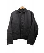 nestrobe confect(ネストローブ コンフェクト)の古着「リネンキャンバスサックジャケット」|グレー