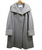 BALLSEY(ボールジィー)の古着「メルトンコンビスタンドカラーコート」|グレー