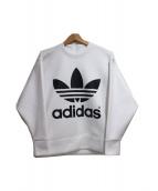 adidas×HYKE(アディダス×ハイク)の古着「ロゴスウェット」 ホワイト