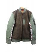 AYUITE(アユイテ)の古着「ウールラグMA-1ジャケット」|オリーブ