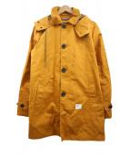 DENIM BY VANQUISH&FRAGMENT(デニムバイ バンキッシュアンドフラグメント)の古着「フーデッドコート」 イエロー