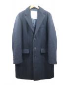 ROSSO(ロッソ)の古着「メルトンチェスターコート」|ネイビー