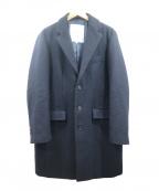ROSSO()の古着「メルトンチェスターコート」|ネイビー