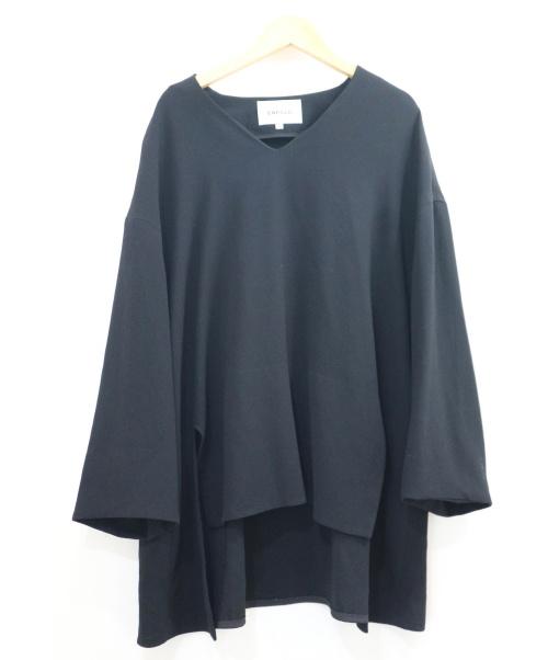 ENFOLD(エンフォルド)ENFOLD (エンフォルド) ACダブルクロスVネックスリットプルオーバー ブラック サイズ:36 定価26.000円+税の古着・服飾アイテム