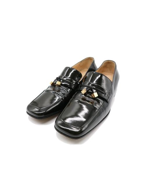 LOUIS VUITTON(ルイヴィトン)LOUIS VUITTON (ルイヴィトン) スクエアエナメルシューズ ブラック サイズ:36 1/2 1R0949の古着・服飾アイテム