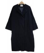 BLENHEIM(ブレンヘイム)の古着「ノーカラーコート」|ネイビー