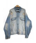 REPRESENT(リプレゼント)の古着「Denim jacket dropsholder」|スカイブルー