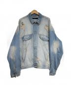 REPRESENT(リプレゼント)の古着「Denim jacket dropsholder」 スカイブルー