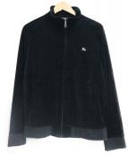 BURBERRY BLACK LABEL(バーバリーブラックレーベル)の古着「ベロアジャケット」|ブラック