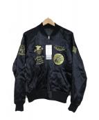 AVIREX Belle(アヴィレックス ベル)の古着「スーベニアジャケット」|ブラック