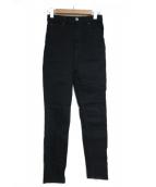 nagonstans(ナゴンスタンス)の古着「ブラックデニムパンツ」|ブラック