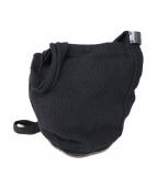 crepuscule(クレプスキュール)の古着「巾着ニットレザーショルダーバッグ」 ブラック