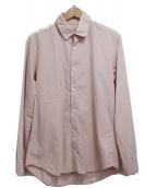 ARTS&SCIENCE(アーツ&サイエンス)の古着「ロングスリーブコットンシャツ」|ピンク