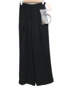 eimy istoire(エイミー イストワール)の古着「ワイドスラックス」|ブラック