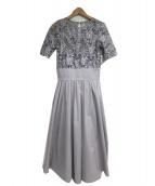 LAGUNA MOON(ラグナムーン)の古着「LADYオーバーレースギャザードレス」|グレー