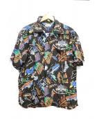 Sun Surf(サンサーフ)の古着「レーヨン半袖アロハシャツ」|ブラウン