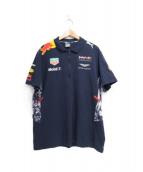 PUMA(プーマ)の古着「コラボレーシングポロシャツ」|ネイビー
