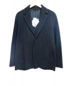 HOMME PLISSE ISSEY MIYAKE(オム プリッセ イッセイ ミヤケ)の古着「プリーツジャケット」|ブラック