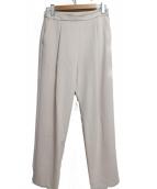 Demi-Luxe BEAMS(デミルクスビームス)の古着「トリアセハイウエストパンツ」 ベージュ