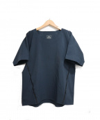 Snow peak()の古着「シームレスプルオーバーTシャツ」|ネイビー