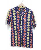 KONABAY HAWAII×BEAUTY&YOUTH(コナベイハワイ×ビューティアンドユース)の古着「アロハシャツ」 ネイビー