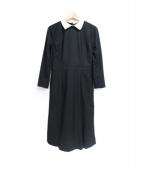 CELFORD(セルフォード)の古着「襟付きワンピース」|ブラック