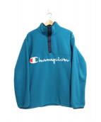 X-LARGE × Champion(エックスラージ×チャンピオン)の古着「ポーラテックフリースPO」|グリーン