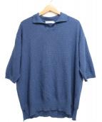 RICEMAN(ライスマン)の古着「ニットポロシャツ」|ネイビー