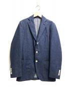 ()の古着「デニム3Bテーラードジャケット」 ブルー