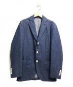 LARDINI(ラルディーニ)の古着「デニム3Bテーラードジャケット」 ブルー