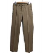 PT01(ピーティーゼロウーノ)の古着「トラウザーパンツ」|ブラウン