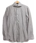 BARBA(バルバ)の古着「コットンシャツ」|ブラウン