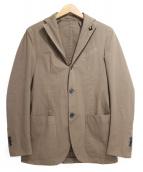 LARDINI(ラルディーニ)の古着「コットンテーラードジャケット」|ブラウン