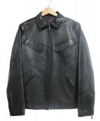 Paul Smith COLLECTION(ポールスミスコレクション)の古着「ラムレザージャケット」|ブラック
