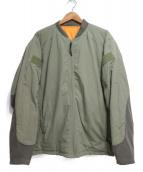 BURLAP OUTFITTER(バーラップアウトフィッター)の古着「MA-1ジャケット」|オリーブ