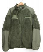 ALPHA INDUSTRIES(アルファ インダストリーズ)の古着「スタンドネックフリースジャケット」|グリーン