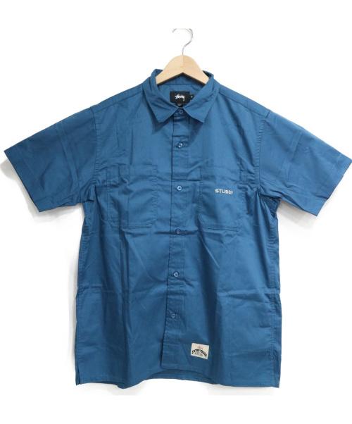 stussy(ステューシー)stussy (ステューシ) 半袖シャツ ブルー サイズ:SIZE M 未使用品 ST EXTRA TOUCH WORKGEARの古着・服飾アイテム
