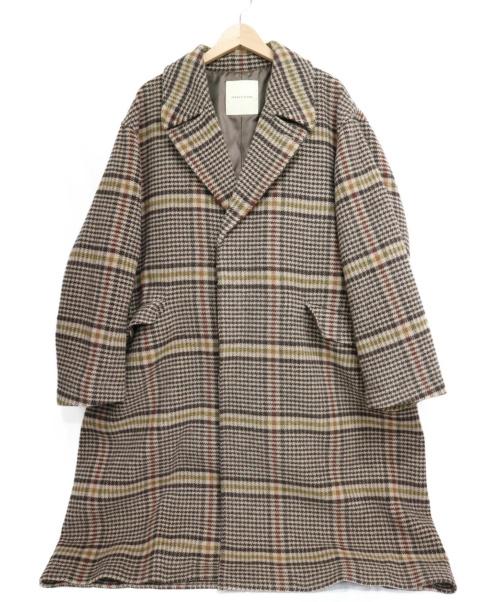 FREAKS STORE(フリークスストア)FREAKS STORE (フリークスストア) 尾州ウール ビッグシルエットコート ブラウン サイズ:SIZE L 19年AWの古着・服飾アイテム