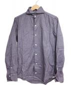Finamore(フィナモレ)の古着「コットンシャツ」|パープル
