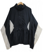 REEBOK(リーボック)の古着「[古着]90'Sプルオーバーナイロンジャケット」|ホワイト×ブラック